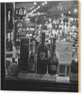 Charles Street Boston Ma Wine In The Window Wood Print
