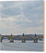 Charles Street Bridge Wood Print by Paul Pobiak