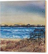 Charleston At Sunset Wood Print