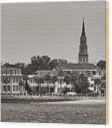 Charleston Battery South Carolina Sepia Wood Print