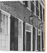 Charleston Brick Homes Wood Print