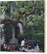 Charleston Buggy Ride Wood Print