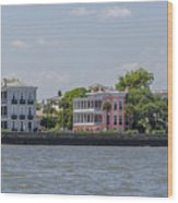 Charleston By The Sea Wood Print