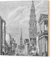 Charleston: Church, 1861 Wood Print