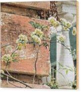 Charleston Climbing Rose Wood Print