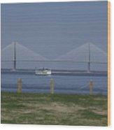 Charleston Ferry Ride Wood Print