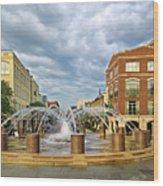 Charleston Fountain Wood Print