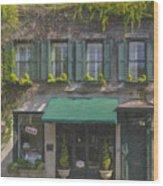 Charleston Gardens Wood Print