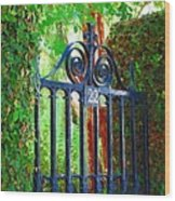 Charleston Gate 1 Wood Print