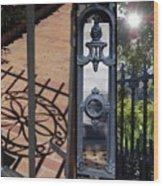 Charleston Gates Wood Print