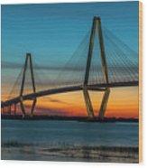 Charleston Golden Hour Wood Print
