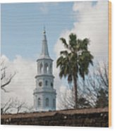 Charleston Historic Church Bell Tower Wood Print