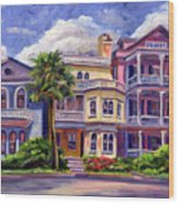 Charleston Houses Wood Print