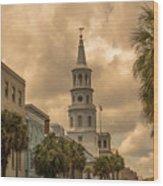 Charleston Light Wood Print