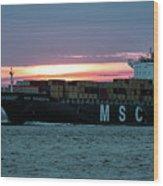 Charleston Port Wood Print