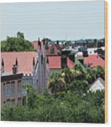 Charleston Rooftops - Queen And Church Streets Wood Print