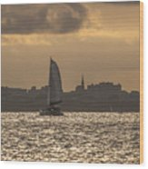 Charleston Sailing Wood Print