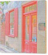Charleston Sc Catfish Row Wood Print