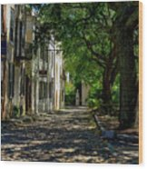 Charleston Side Street Wood Print