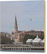 Charleston Skyline Wood Print