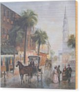 Charleston Somewhere In Time Wood Print