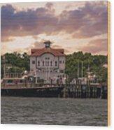 Charleston Wharf Wood Print