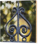 Charleston Wrought Iron Wood Print