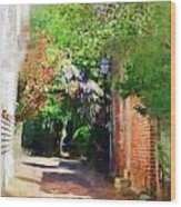 Charlestons Alley Wood Print