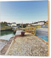 Charlestown From The Sea Wall Wood Print