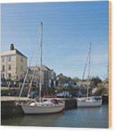 Charlestown Harbour Cornwall Wood Print