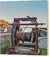 Charlestown Winch Wood Print