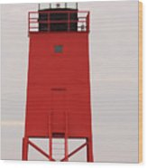 Charlevoix South Pier Lighthouse Wood Print