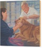 Charlie And The Vet Wood Print