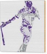 Charlie Blackmon Colorado Rockies Pixel Art 10 Wood Print
