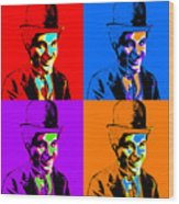 Charlie Chaplin Four 20130212 Wood Print by Wingsdomain Art and Photography