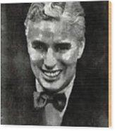 Charlie Chaplin Hollywood Legend Wood Print