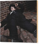 Charlie Chaplin Wood Print