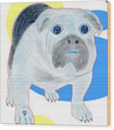 Charlie The Bulldog Wood Print