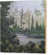 Charlie's Tree Wood Print