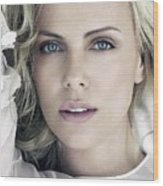 Charlize Theron Blue Eyed Blonde Blouse Celebrity Hollywood 31116 640x960 Wood Print