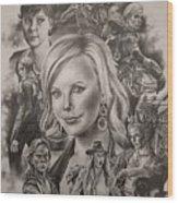 Charlize Theron  Wood Print