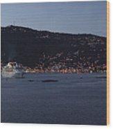 Charlotte Amalie At Dusk Wood Print