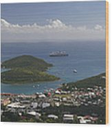 Charlotte Amalie From Above Wood Print