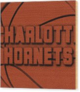 Charlotte Hornets Leather Art Wood Print