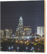 Charlotte Night Wood Print by Brian Young