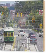 Charlotte Streetcar Line 2 Wood Print