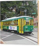 Charlotte Streetcar Line 3 Wood Print