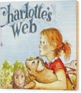 Charlottes Web Wood Print by Elizabeth Coats