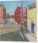 Charlottesville Street Wood Print