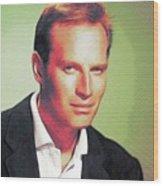 Charlton Heston, Hollywood Legends Wood Print
